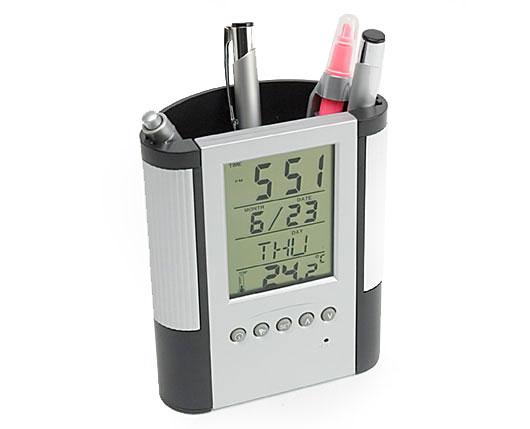 efbb6073d29 Porta Caneta com Relógio Digital Personalizado - Plástico